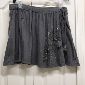 American eagle outfitters grey mini skirt